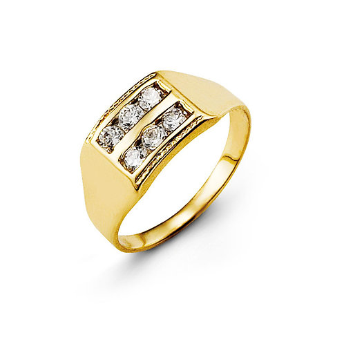 10kt Gold Baby Bella CZ Ring