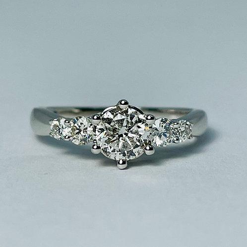 14kt White Gold 1.00ct Diamond Engagement Ring