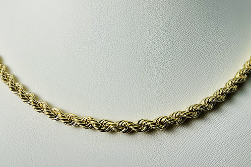 10kt Gold Rope Chain 4mm