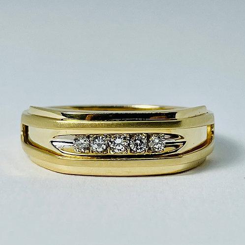 14kt Gold Diamond Band 0.15ctw