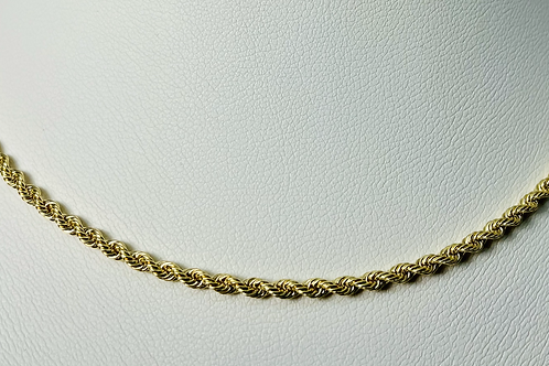 10kt Gold Rope Chain 2.5mm