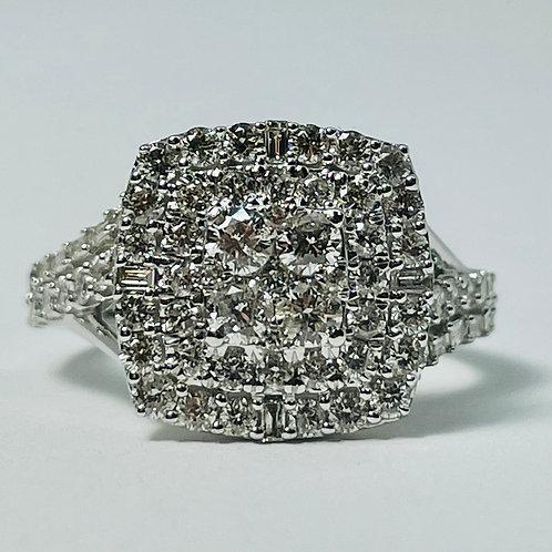 10kt White Gold Diamond Ring 1.35ctw