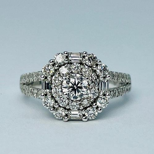 14kt White Gold 1.35ctw Diamond Engagement Ring Set