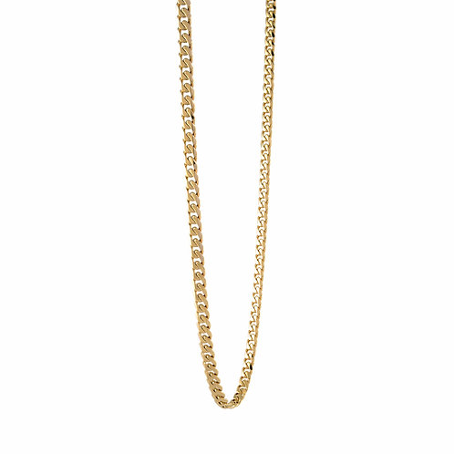 ITALGEM Gold Plated Stainless Steel 4.6mm Curb Chain