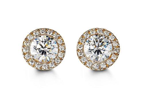10kt Gold Glory CZ Stud Earrings