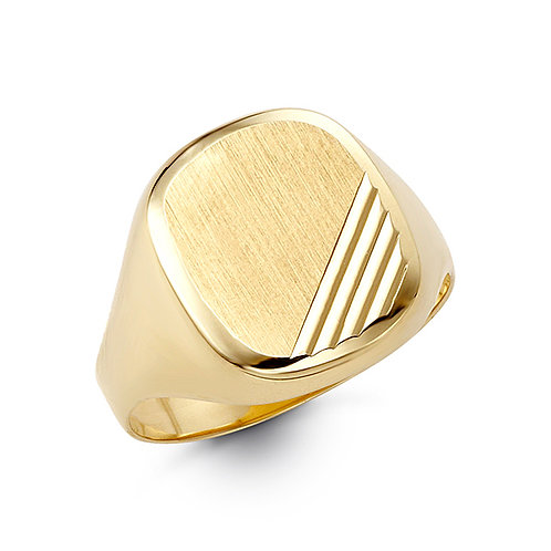 10kt Gold Bella Fierce Men's Signet Ring