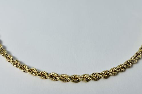 10kt Gold Rope Bracelet 4mm
