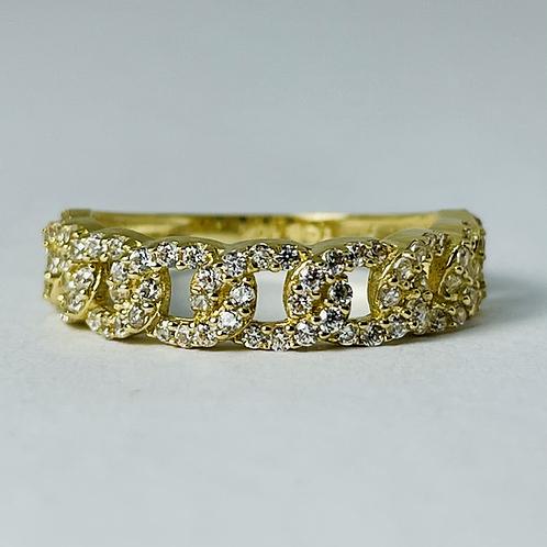 10kt Gold CZ Links Ring