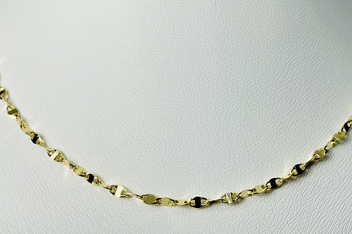 10kt Gold Mirror Chain (Large)