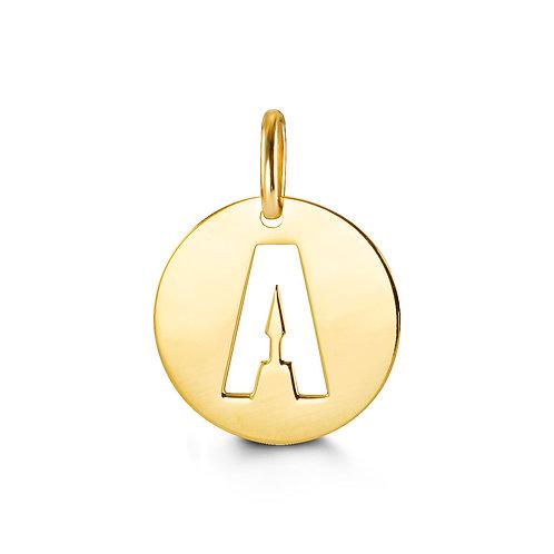 10kt Gold Signature Initial Pendant