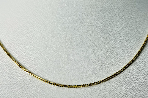 10kt Gold Two-Tone Box Chain