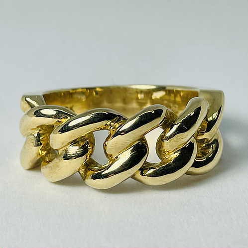 10kt Gold Miami Ring, Solid