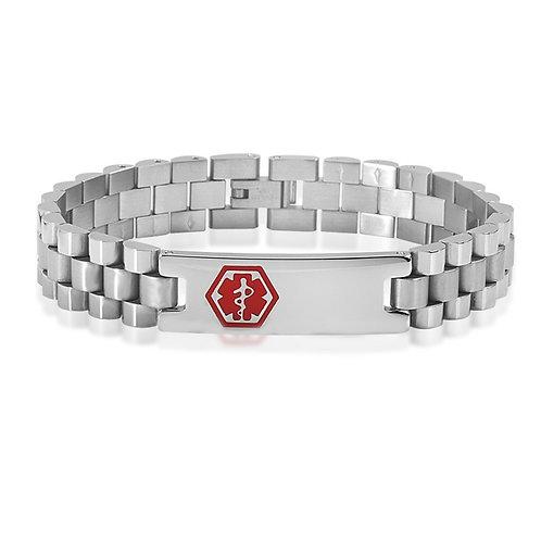 Stainless Steel Medical ID bracelet for women