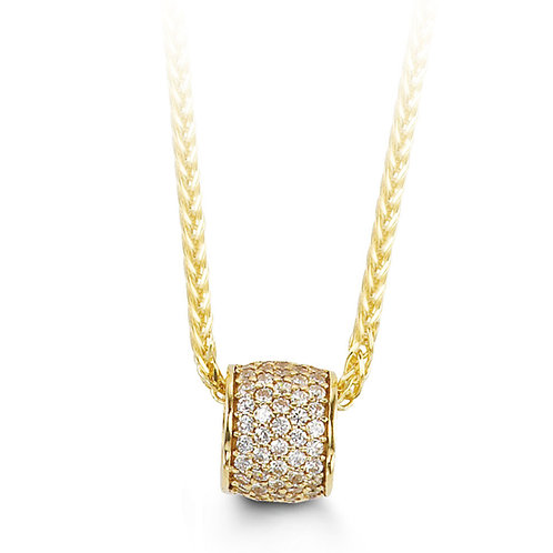 10kt Gold 'Bloom' CZ Pendant & Chain