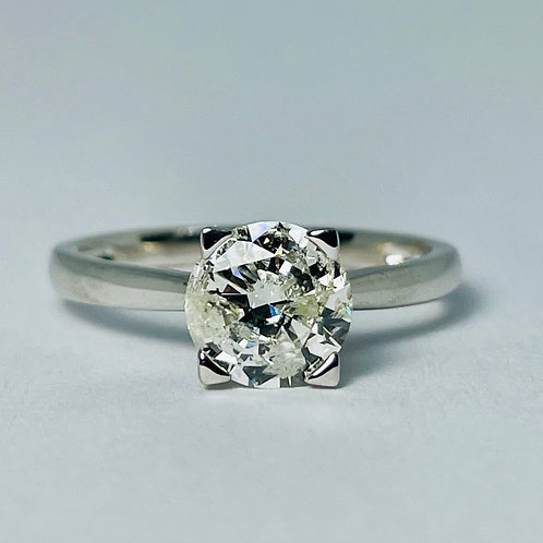 18kt White Gold Diamond Solitaire 1.23ctw