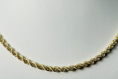 10kt Gold Rope Chain 3mm