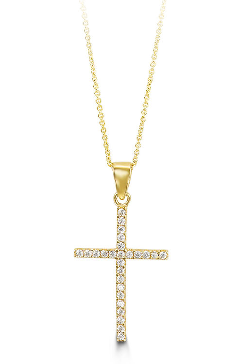 10kt Gold Bloom Collection Cross & Chain