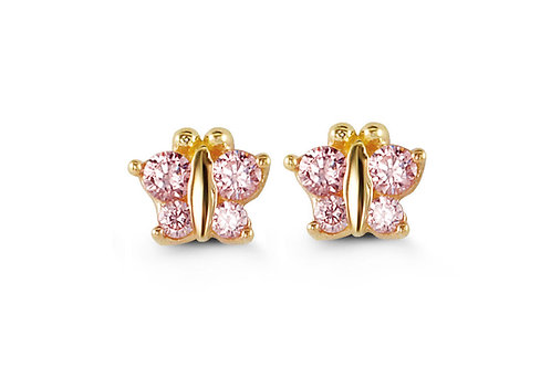 14kt Gold Baby Bella Butterfly Earrings