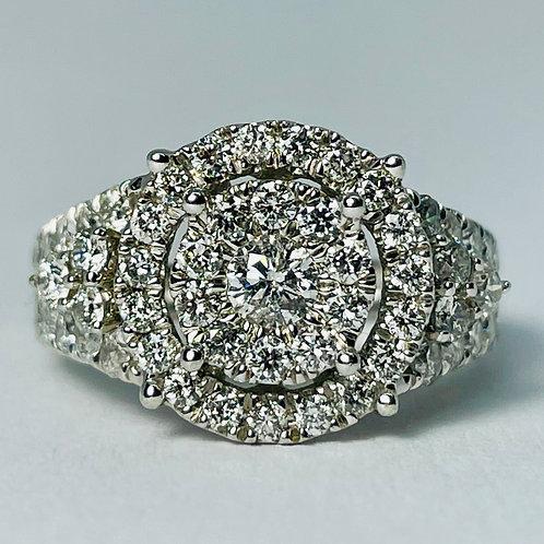 10kt Gold 2.00 Carat Diamond Ring
