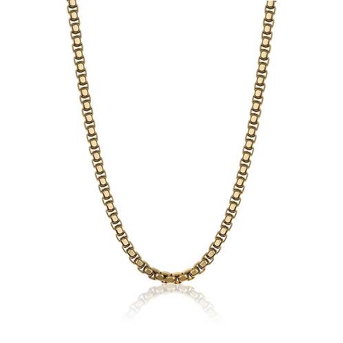 ITALGEM Gold Plated Stainless Steel 5.5MM Round Box Chain