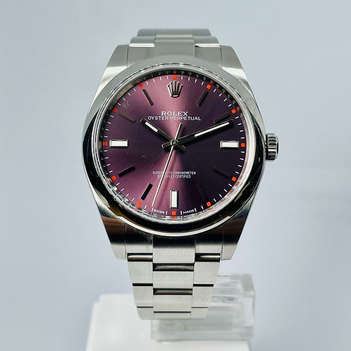 Rolex Oyster Perpetual - Red Grape Dial