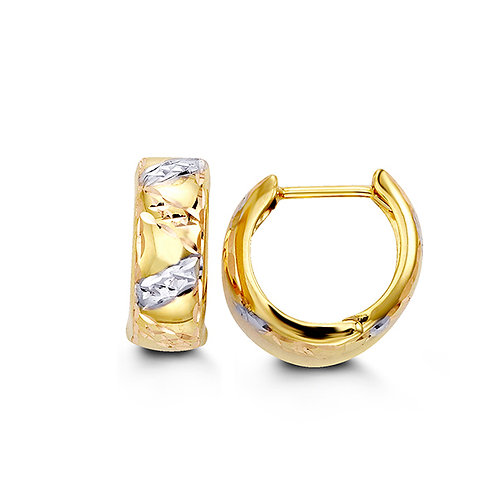 10kt Gold Tri-Colour Gold Huggies
