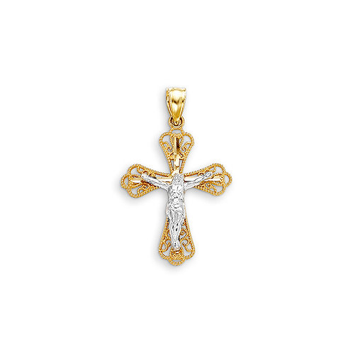 10kt Gold Bella Faith Filigree Cross