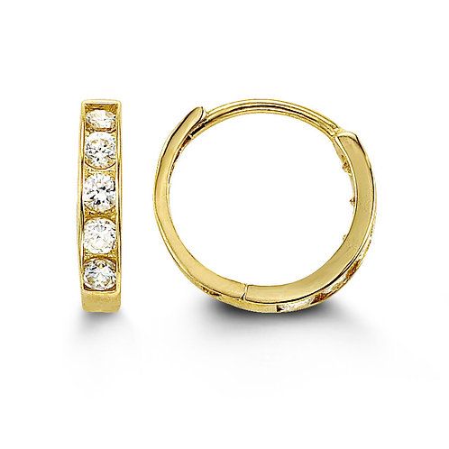 14kt Gold Baby Bella Hoop Earrings