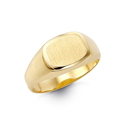 10kt Gold Bella Fierce Men's Oval Signet Ring