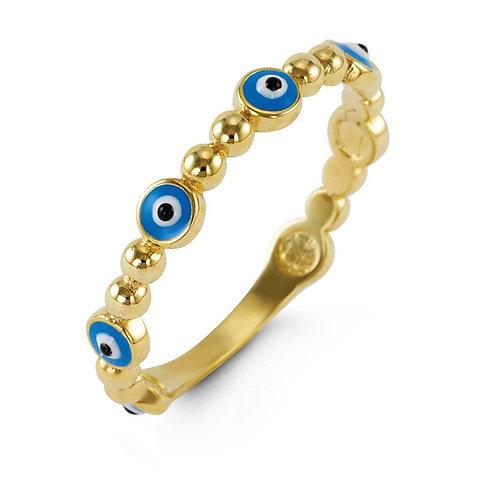 10k Gold Evil Eye Ring
