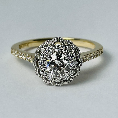 14kt Gold Canadian Diamond Engagement Ring