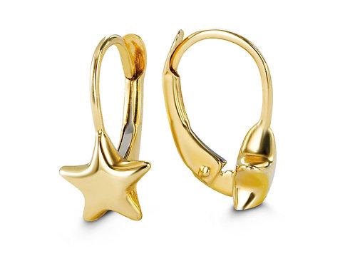 10kt Gold Baby Bella Star Earrings