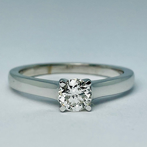 14kt White Gold 0.50ct Solitaire Diamond Engagement Ring