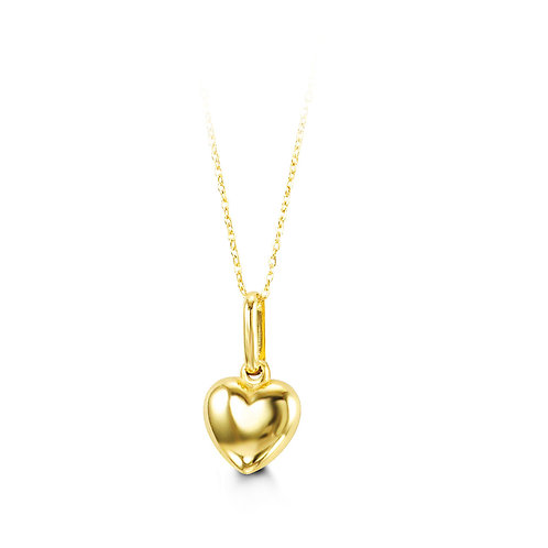 10kt Gold Baby Bella Heart Pendant & Chain