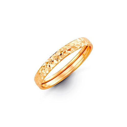 10k Gold Eclipse Band