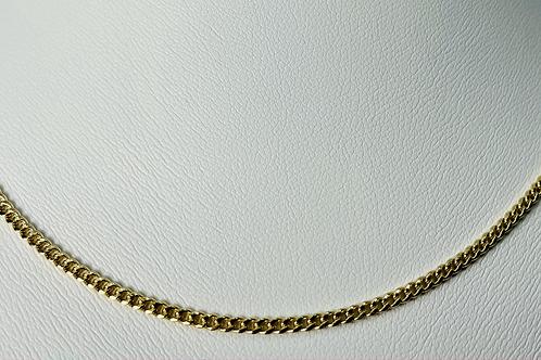 10kt Gold Miami Curb Chain 2mm
