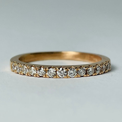 14kt Rose Gold Diamond Band 0.30ctw