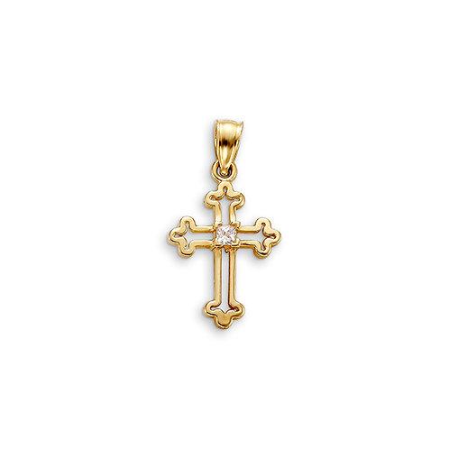 10kt Gold Bella Faith CZ Cross