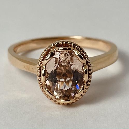 14kt Rose Gold Morganite Ring
