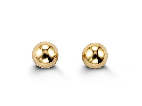 14kt Gold Baby Bella Ball Stud Earrings