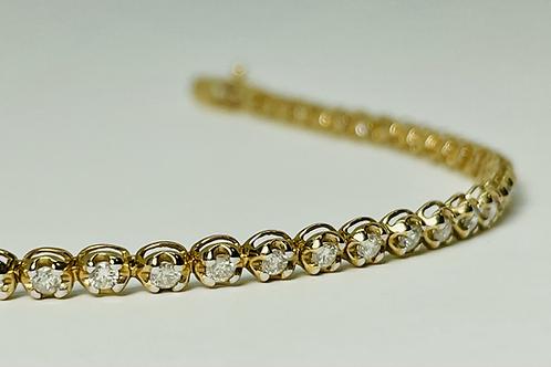 10kt Gold 1.50ctw Diamond Tennis Bracelet