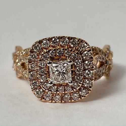 14kt Rose Gold Diamond 1.50ct Engagement Ring