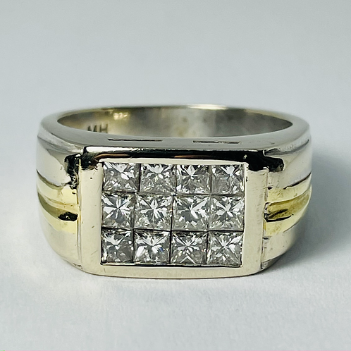 18kt Gold Two Tone Diamond Ring