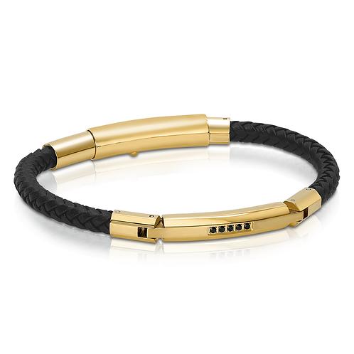 ITALGEM Circon Leather Bracelet