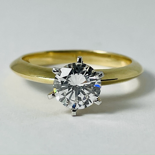 14kt Gold Diamond Solitaire Engagement Ring