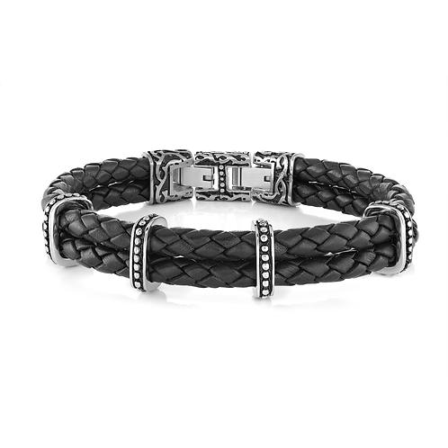 ITALGEM Conquer Leather Bracelet