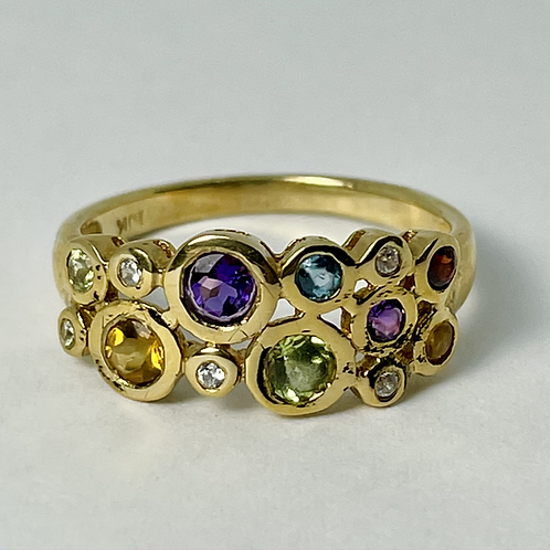 14kt Gold Multi-Gemstone Ring
