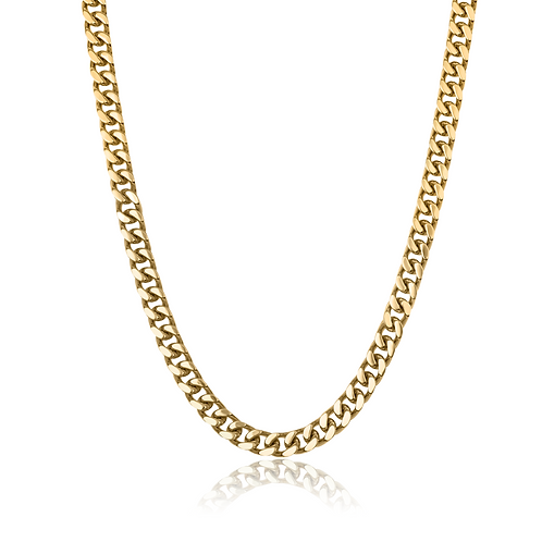 ITALGEM Gold Plated Stainless Steel 9.4mm Curb Chain