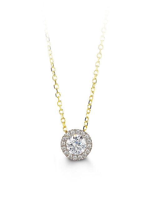10kt Gold Glory CZ Necklace & Pendant