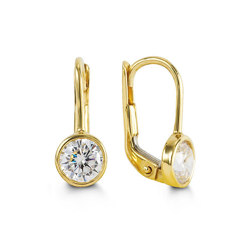 10kt Gold Dangling Earring with Birthstone
